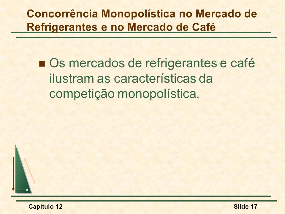 Concorrência Monopolística no Mercado de Refrigerantes e no Mercado de Café