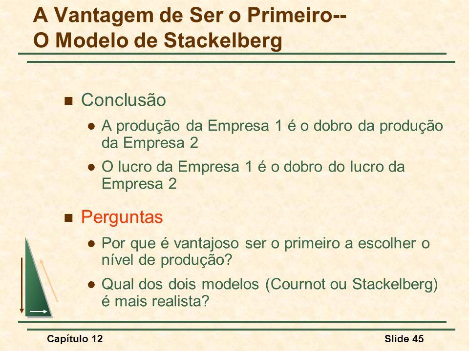 A Vantagem de Ser o Primeiro-- O Modelo de Stackelberg