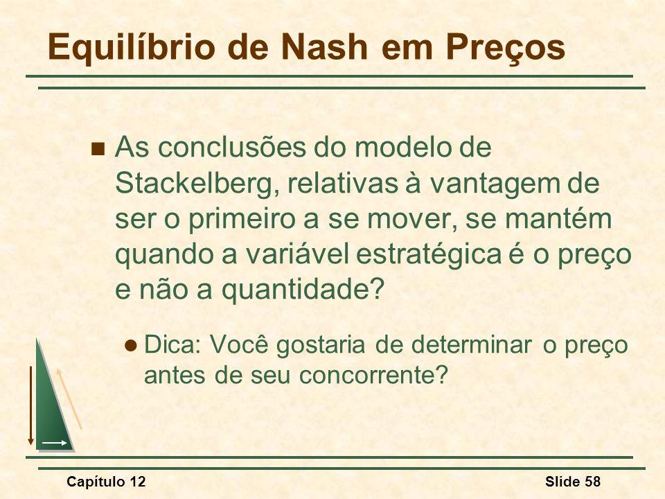 Equilíbrio de Nash em Preços