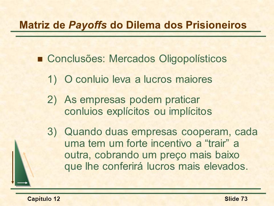 Matriz de Payoffs do Dilema dos Prisioneiros