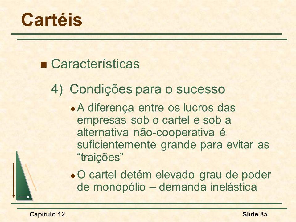 Cartéis Características 4) Condições para o sucesso