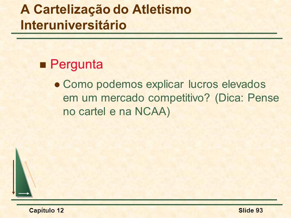 A Cartelização do Atletismo Interuniversitário