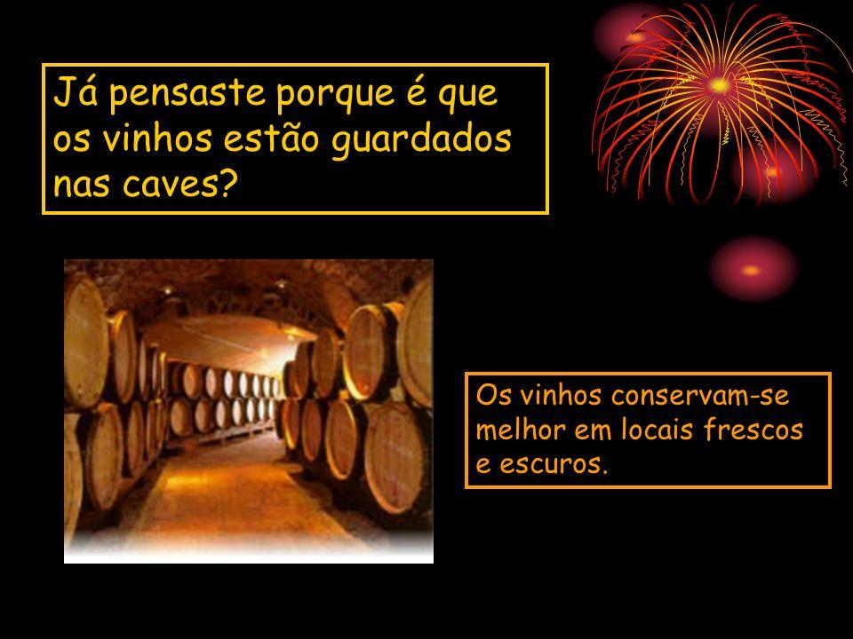 Já pensaste porque é que os vinhos estão guardados nas caves
