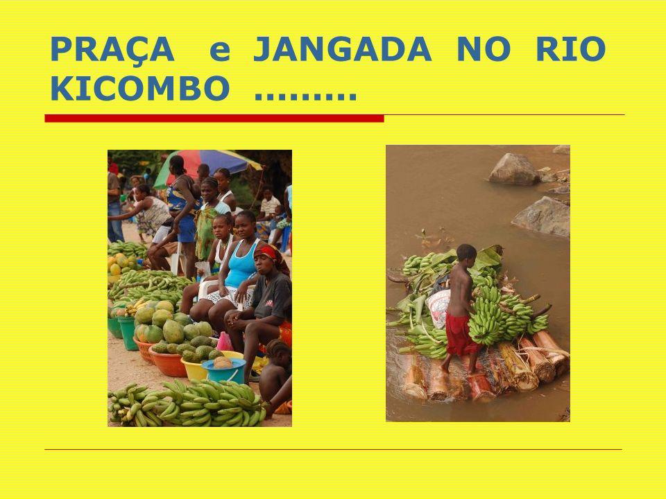 PRAÇA e JANGADA NO RIO KICOMBO .........