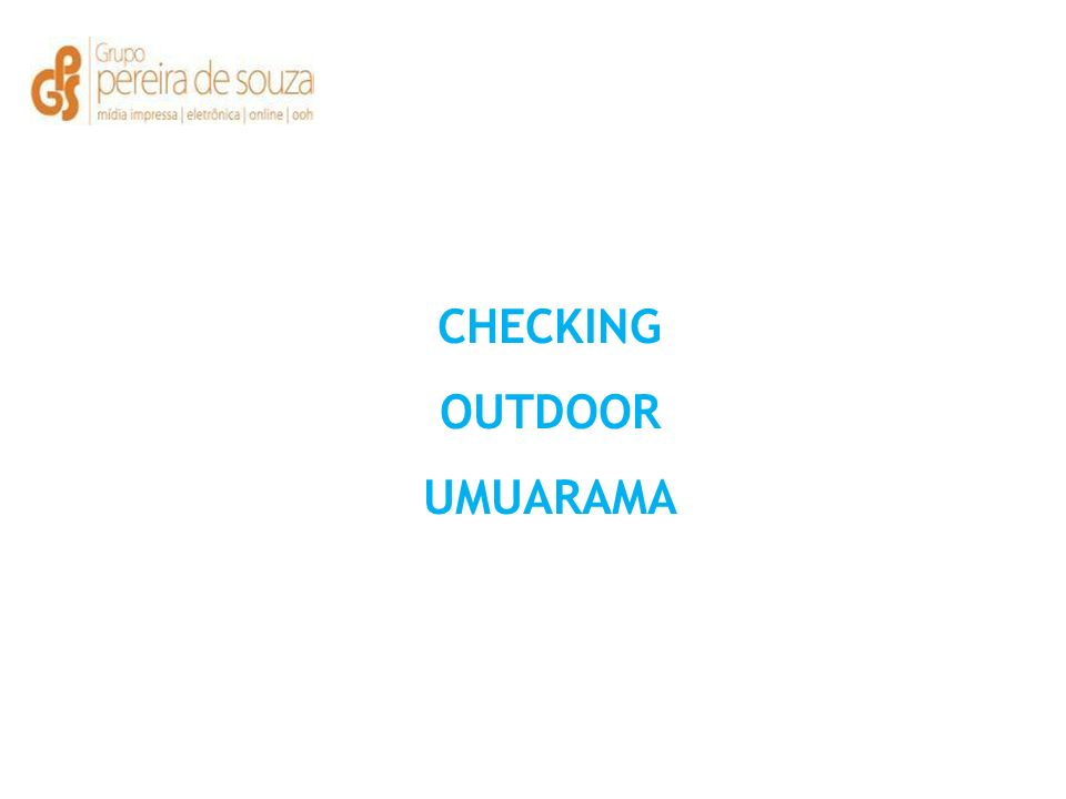 CHECKING OUTDOOR UMUARAMA