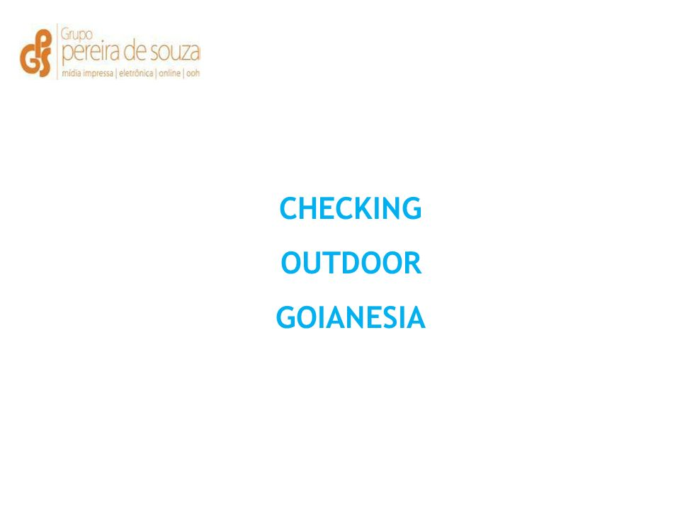 CHECKING OUTDOOR GOIANESIA