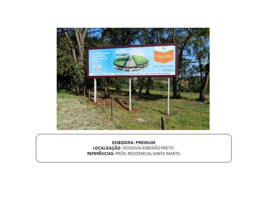LOCALIZAÇÃO : RODOVIA RIBEIRÃO PRETO
