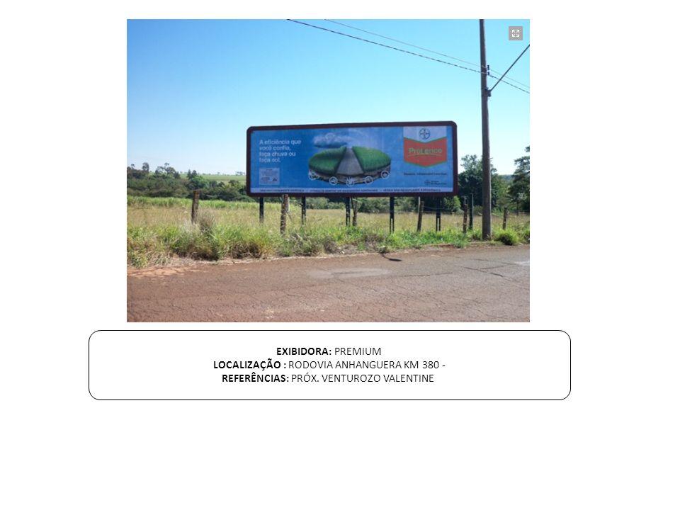 LOCALIZAÇÃO : RODOVIA ANHANGUERA KM 380 -