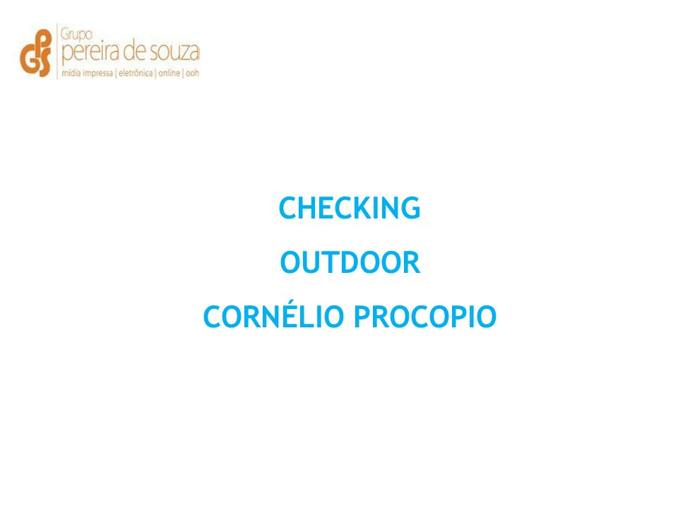 CHECKING OUTDOOR CORNÉLIO PROCOPIO