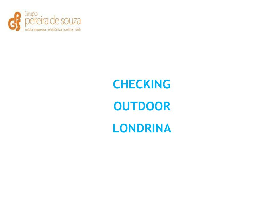 CHECKING OUTDOOR LONDRINA