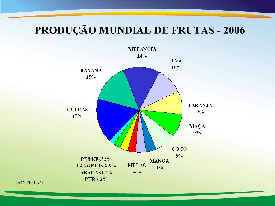 PRODUÇÃO MUNDIAL DE FRUTAS - 2006