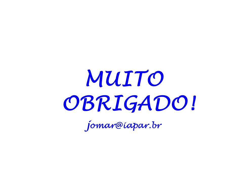 MUITO OBRIGADO! jomar@iapar.br