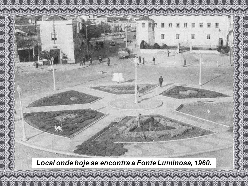 Local onde hoje se encontra a Fonte Luminosa, 1960.
