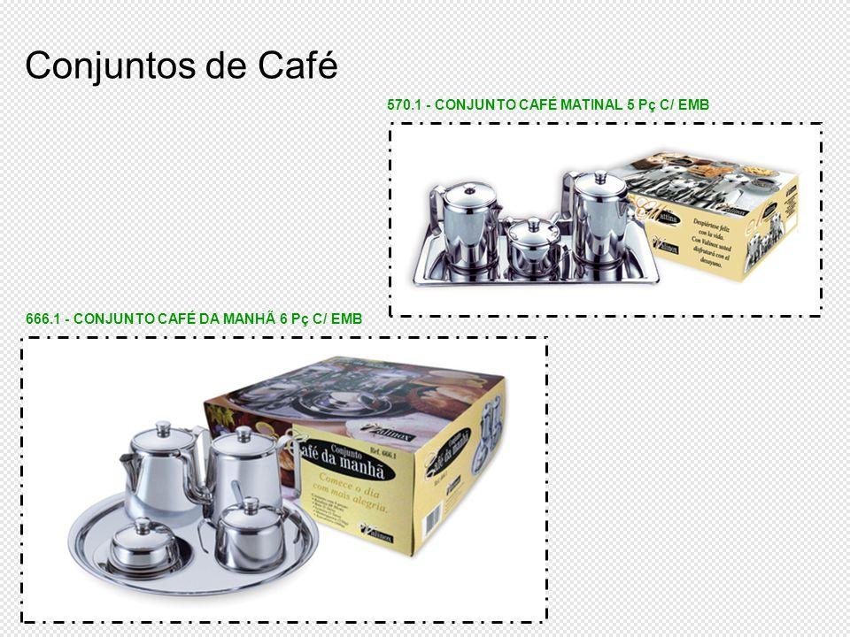 Conjuntos de Café 570.1 - CONJUNTO CAFÉ MATINAL 5 Pç C/ EMB