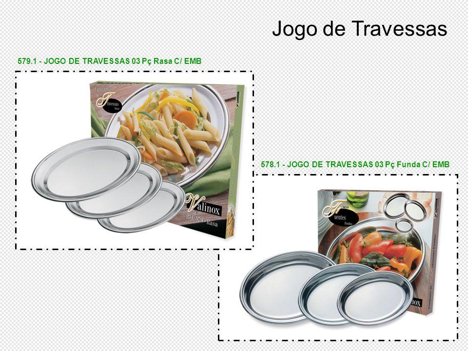 Jogo de Travessas 579.1 - JOGO DE TRAVESSAS 03 Pç Rasa C/ EMB