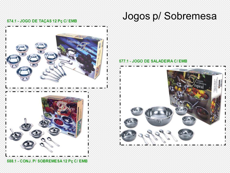Jogos p/ Sobremesa 574.1 - JOGO DE TAÇAS 12 Pç C/ EMB