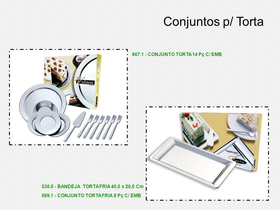 Conjuntos p/ Torta 667.1 - CONJUNTO TORTA 14 Pç C/ EMB