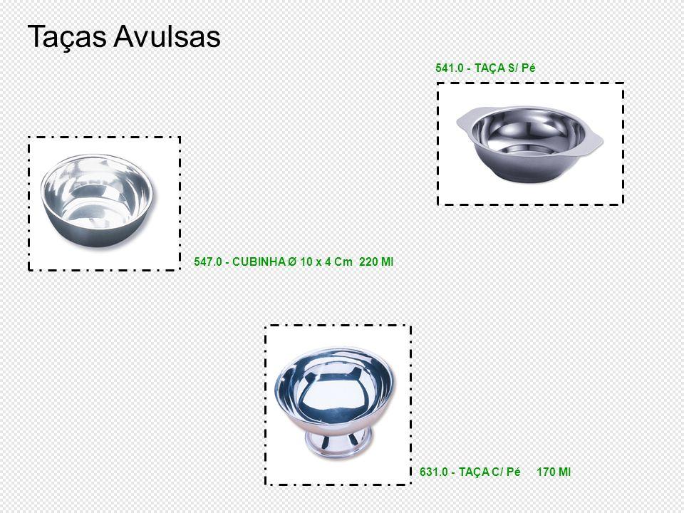 Taças Avulsas 541.0 - TAÇA S/ Pé 547.0 - CUBINHA Ø 10 x 4 Cm 220 Ml