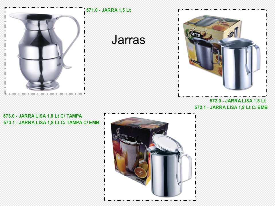 573.1 - JARRA LISA 1,8 Lt C/ TAMPA C/ EMB