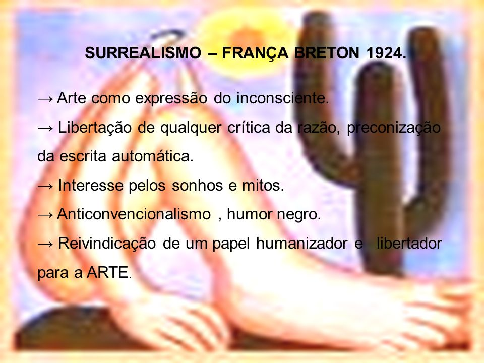 SURREALISMO – FRANÇA BRETON 1924.