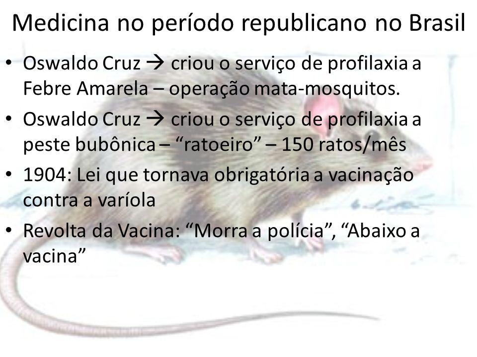 Medicina no período republicano no Brasil