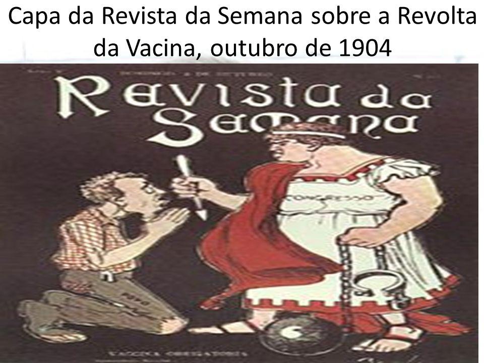 Capa da Revista da Semana sobre a Revolta da Vacina, outubro de 1904