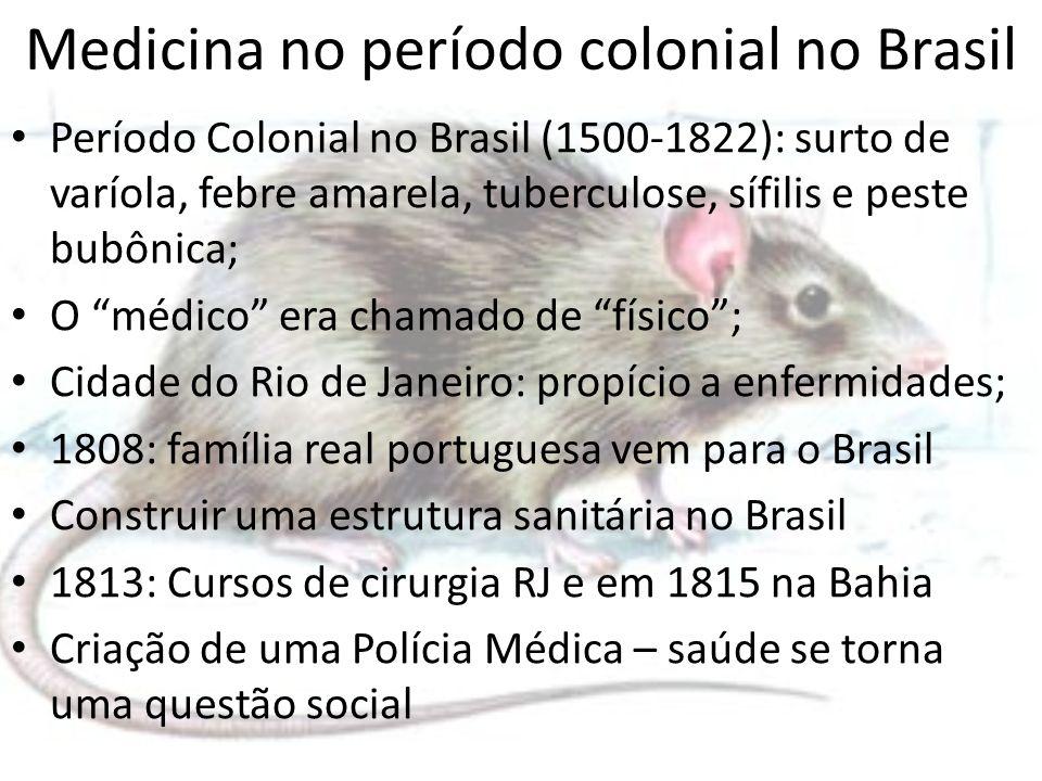 Medicina no período colonial no Brasil