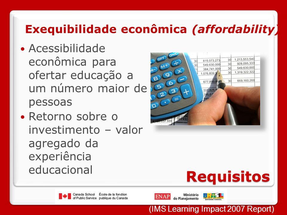 Requisitos Exequibilidade econômica (affordability)