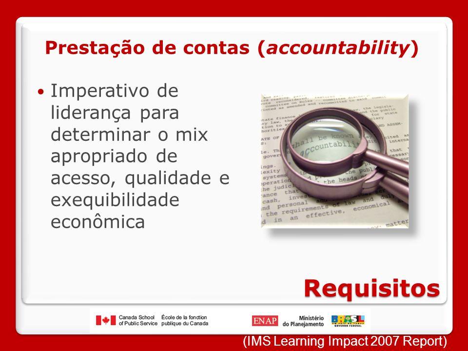 Requisitos Prestação de contas (accountability)