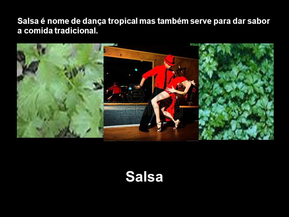 Salsa é nome de dança tropical mas também serve para dar sabor a comida tradicional.