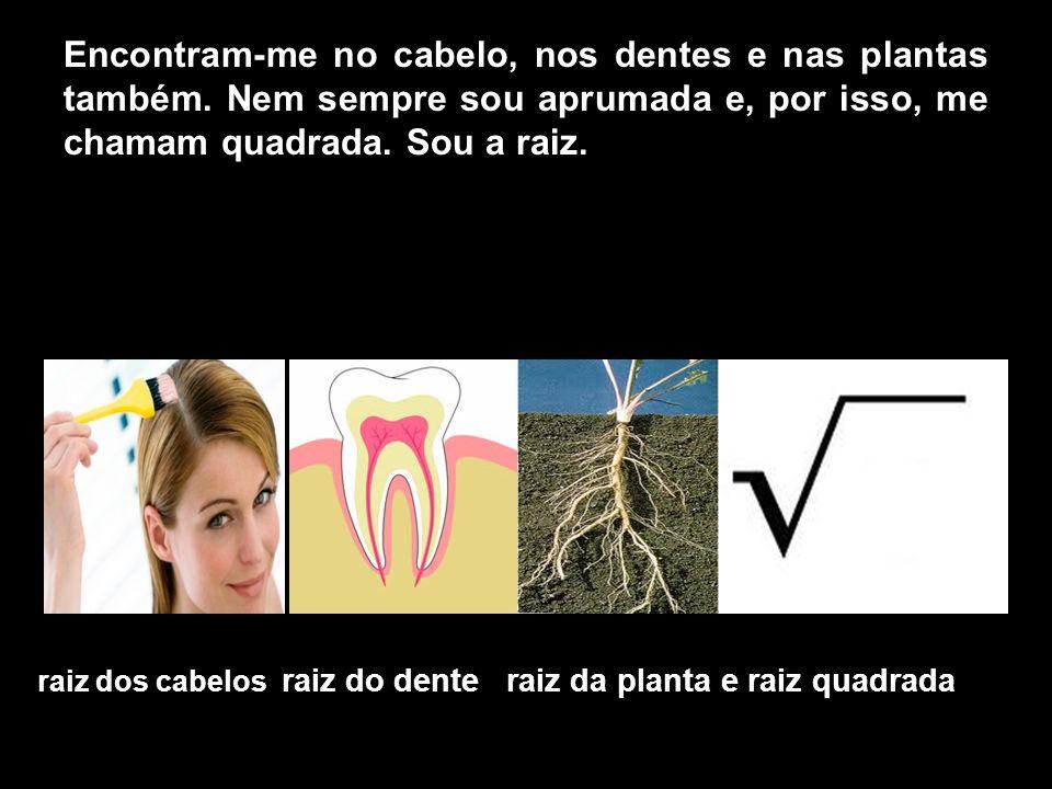 Encontram-me no cabelo, nos dentes e nas plantas também