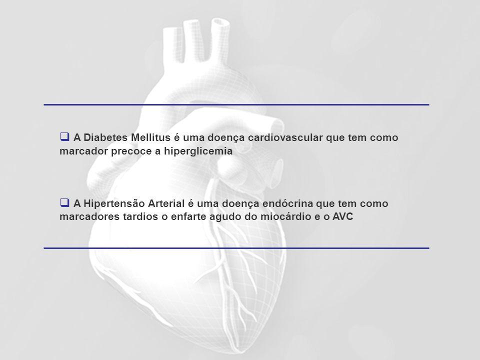 A Diabetes Mellitus é uma doença cardiovascular que tem como marcador precoce a hiperglicemia