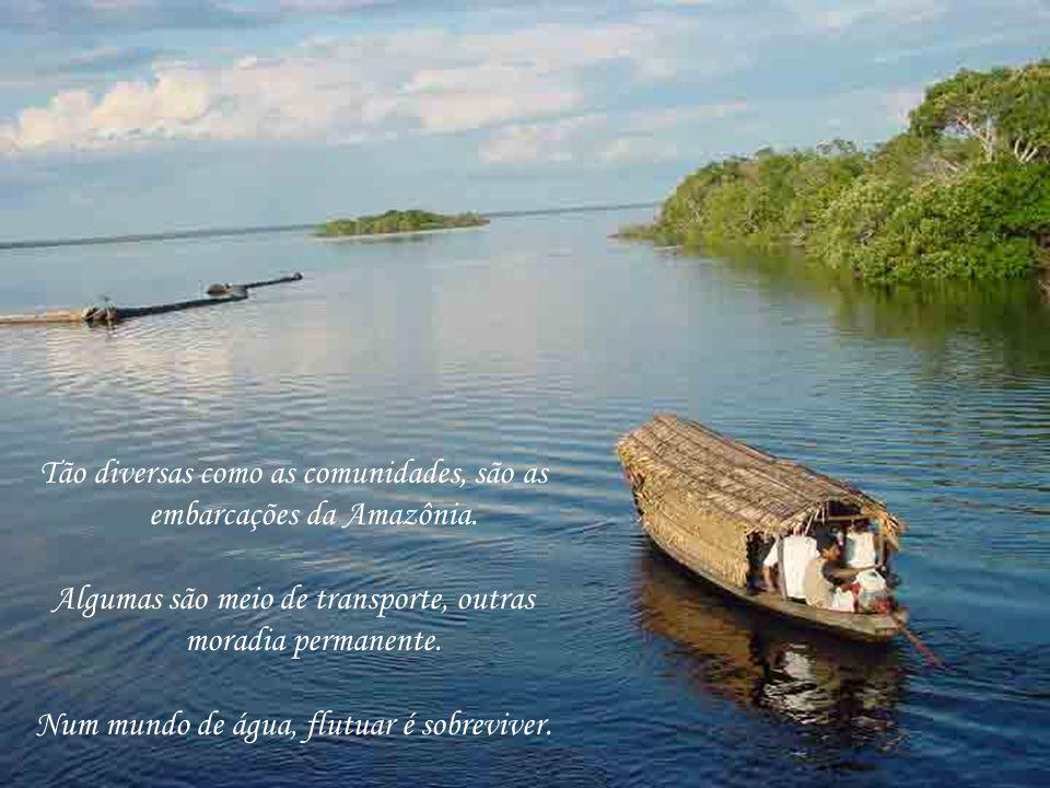 Tão diversas como as comunidades, são as embarcações da Amazônia.