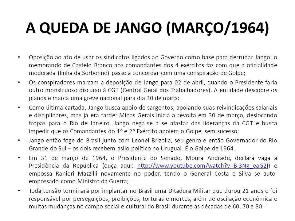 A QUEDA DE JANGO (MARÇO/1964)