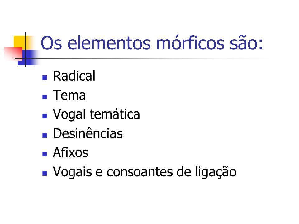Os elementos mórficos são: