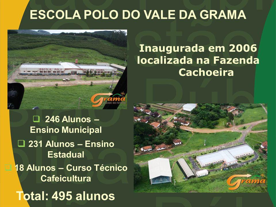 ESCOLA POLO DO VALE DA GRAMA Total: 495 alunos