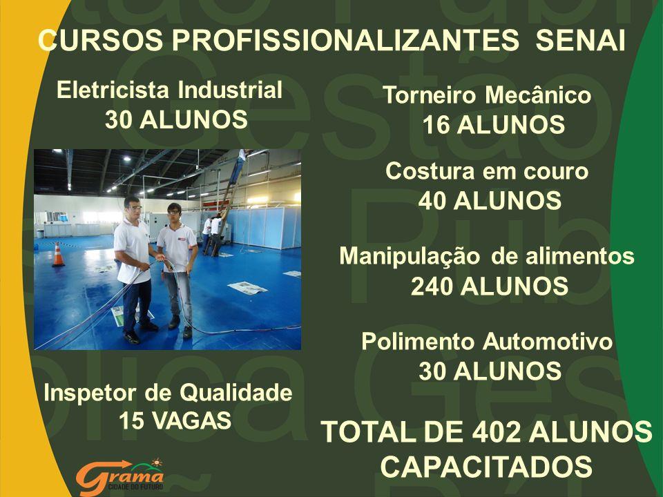 CURSOS PROFISSIONALIZANTES SENAI TOTAL DE 402 ALUNOS CAPACITADOS