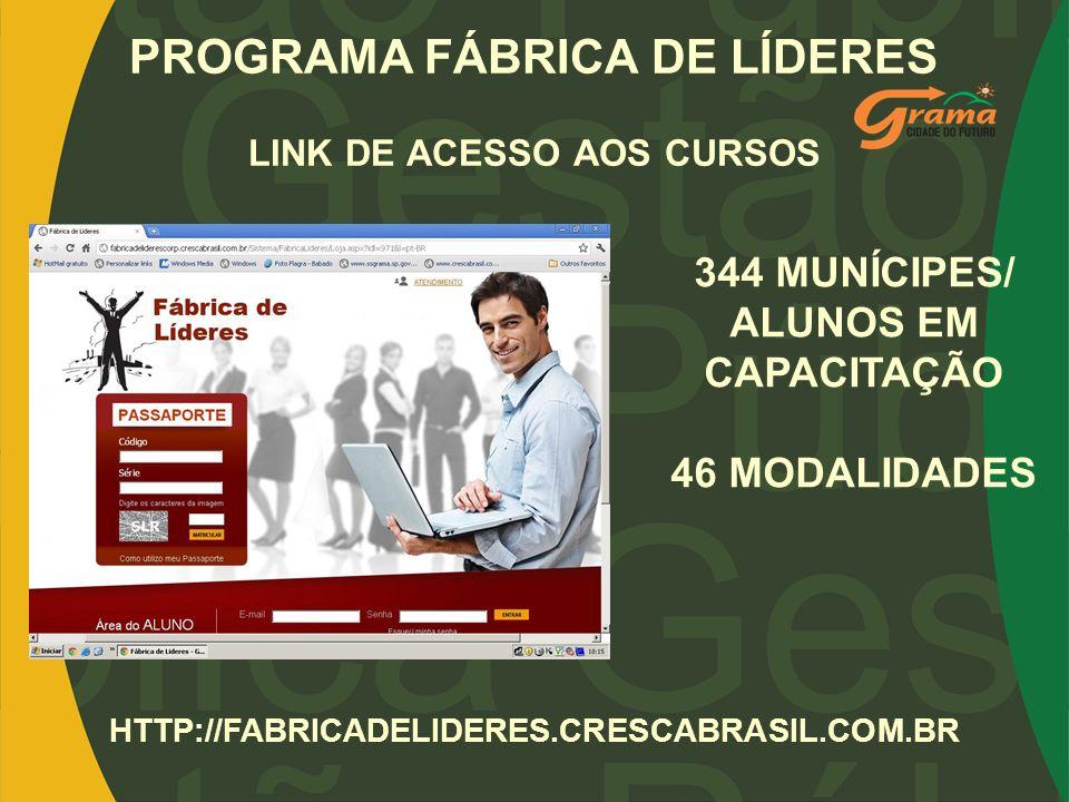 PROGRAMA FÁBRICA DE LÍDERES LINK DE ACESSO AOS CURSOS