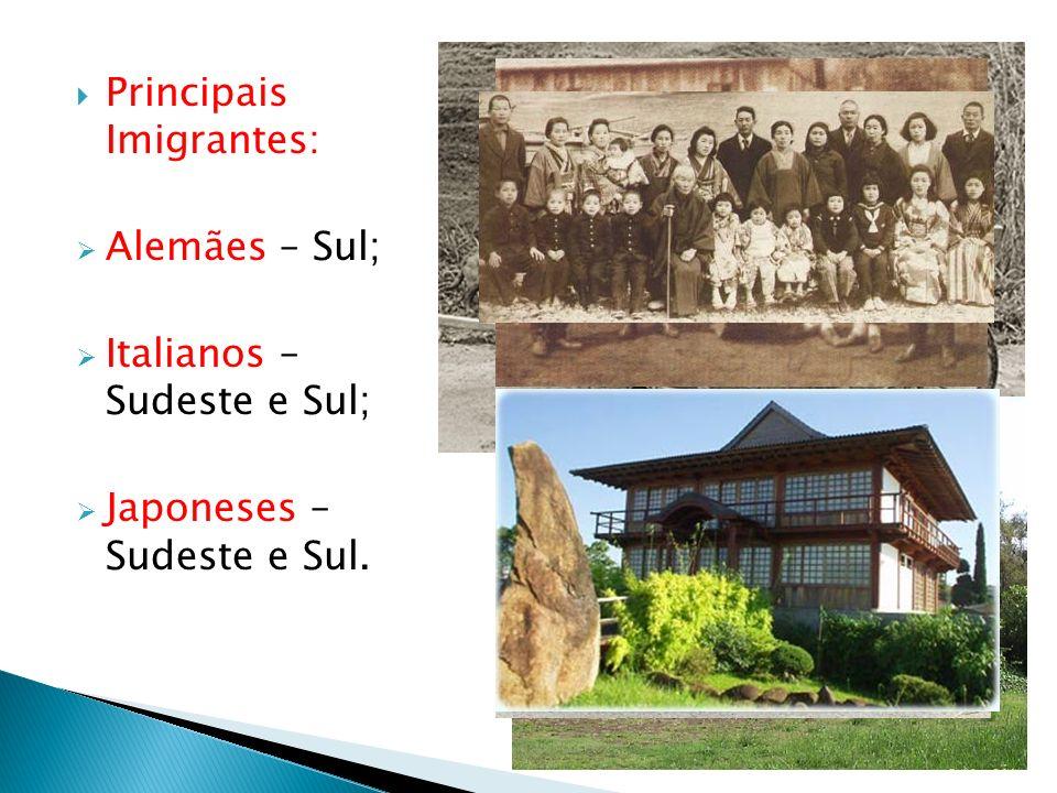 Principais Imigrantes: