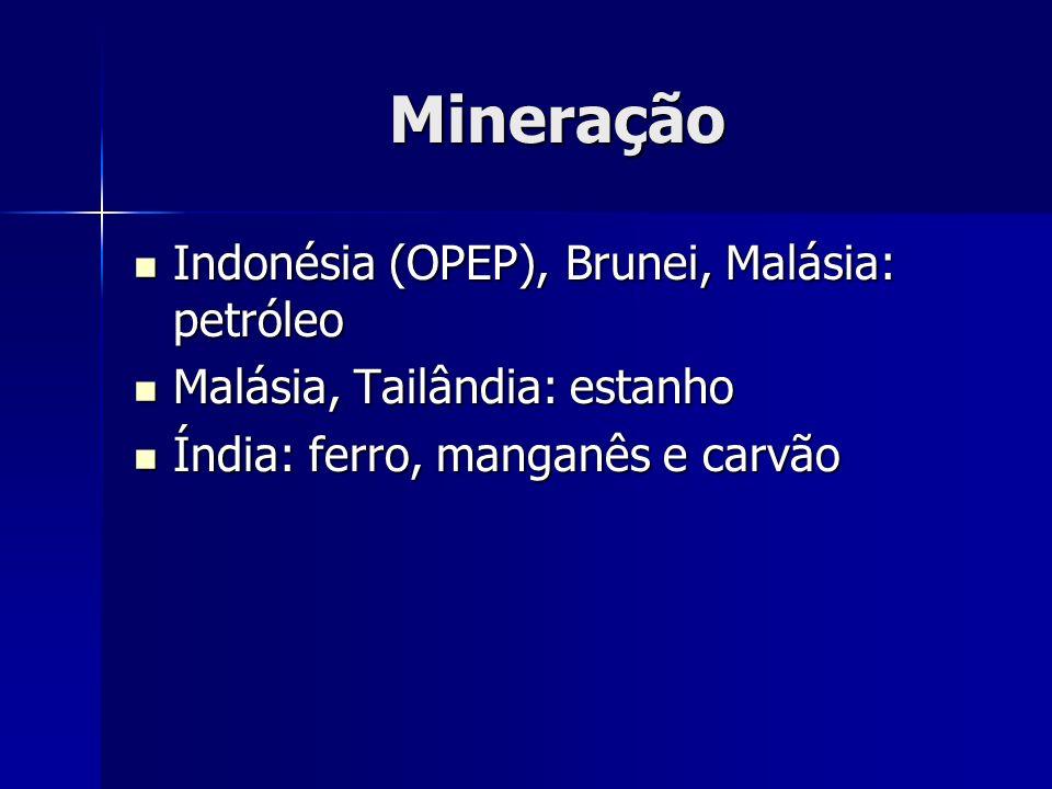 Mineração Indonésia (OPEP), Brunei, Malásia: petróleo