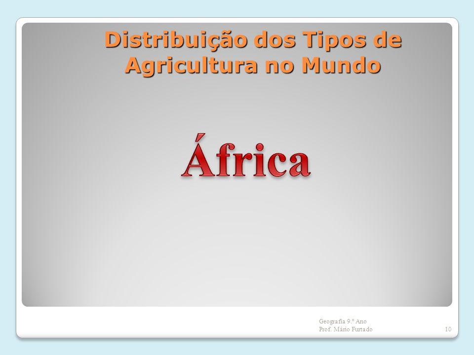 Distribuição dos Tipos de Agricultura no Mundo