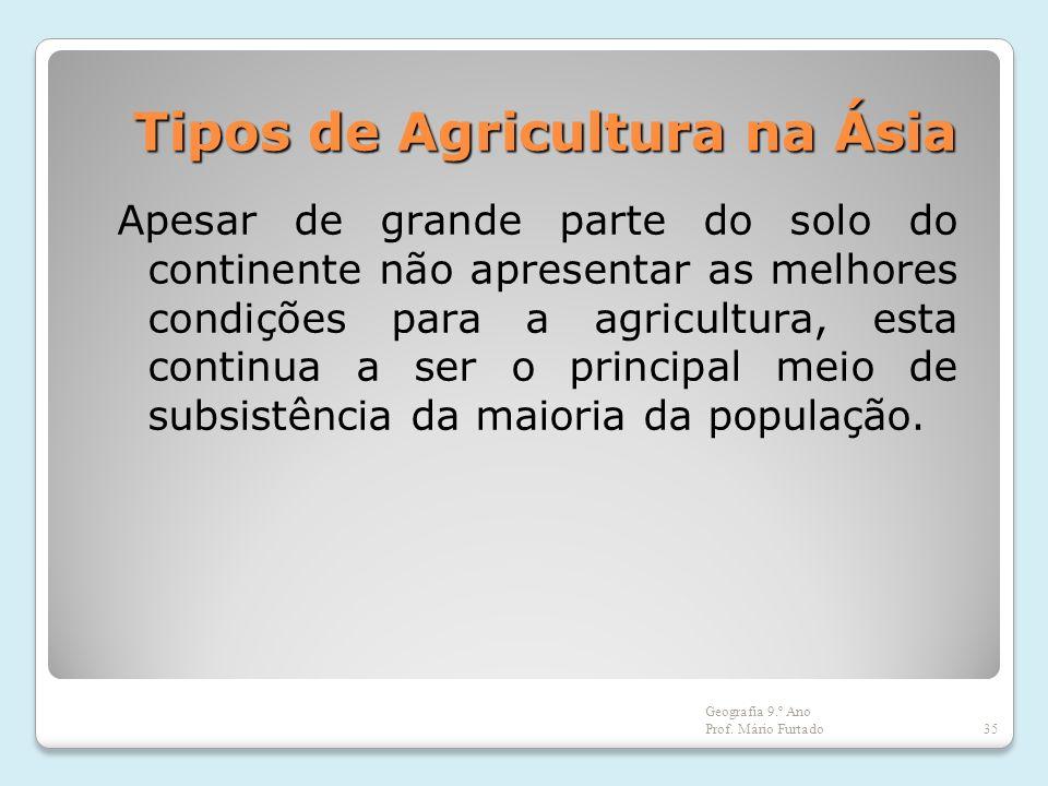 Tipos de Agricultura na Ásia