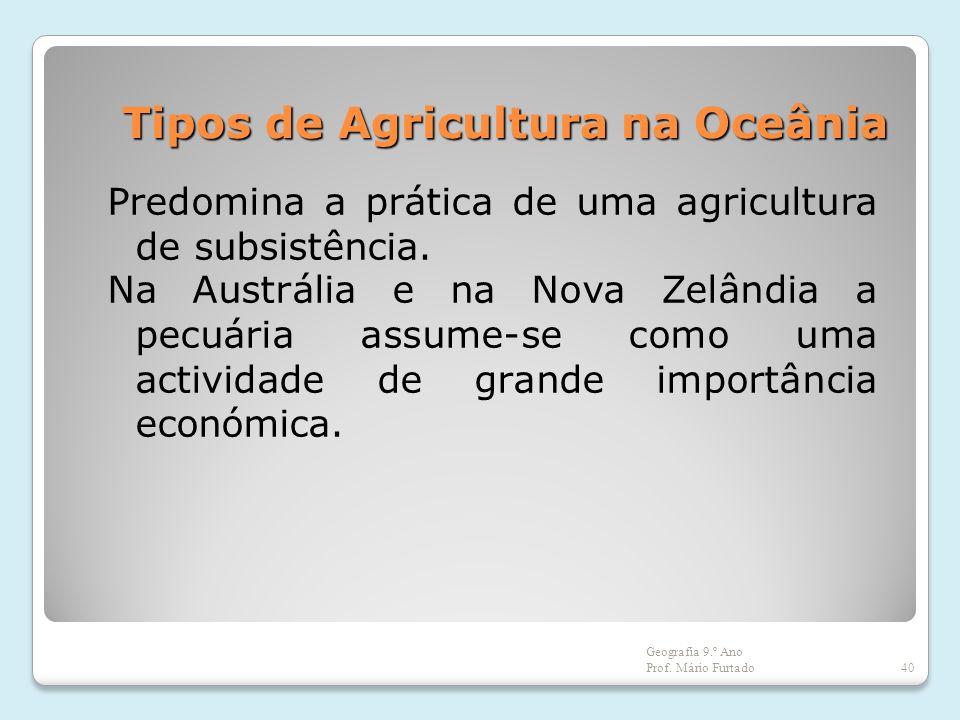 Tipos de Agricultura na Oceânia