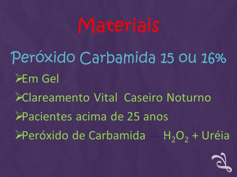 Peróxido Carbamida 15 ou 16%