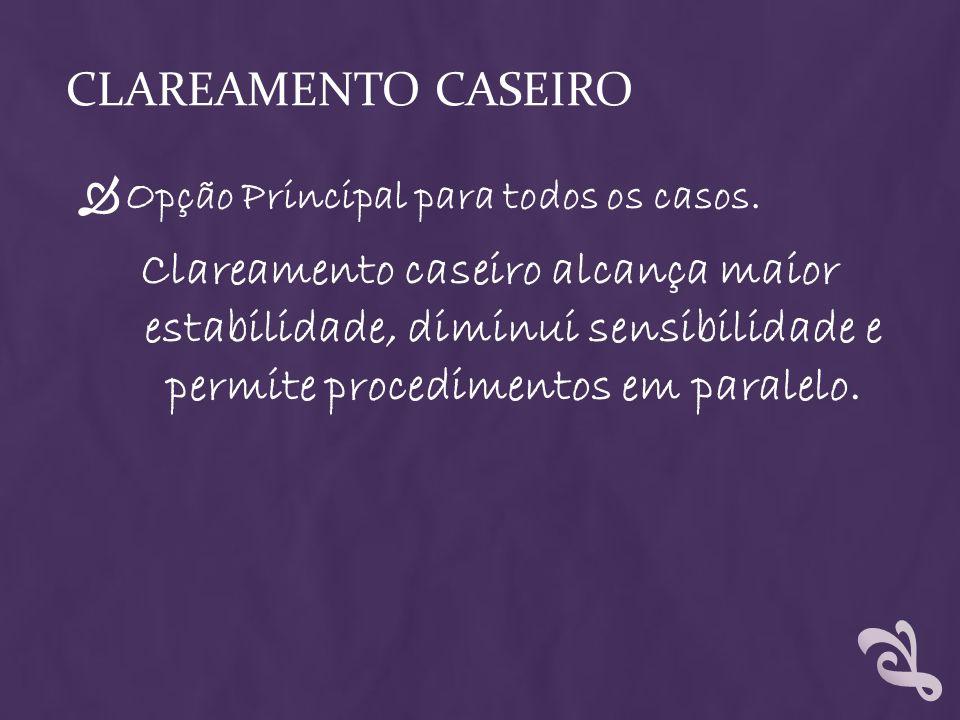 Clareamento Caseiro Opção Principal para todos os casos.