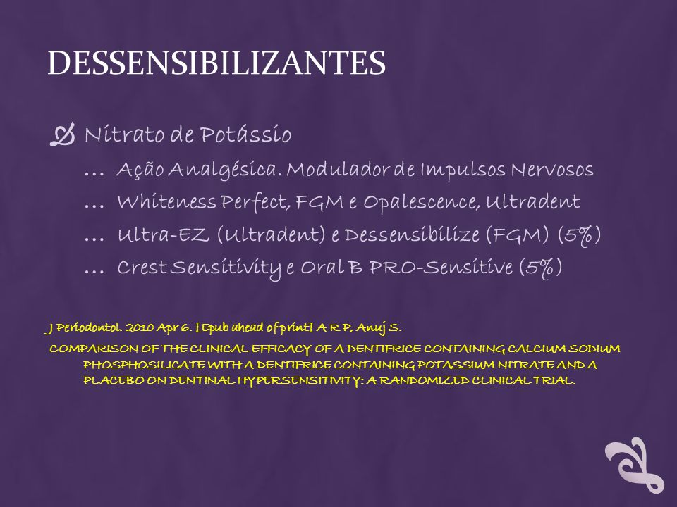 Dessensibilizantes Nitrato de Potássio