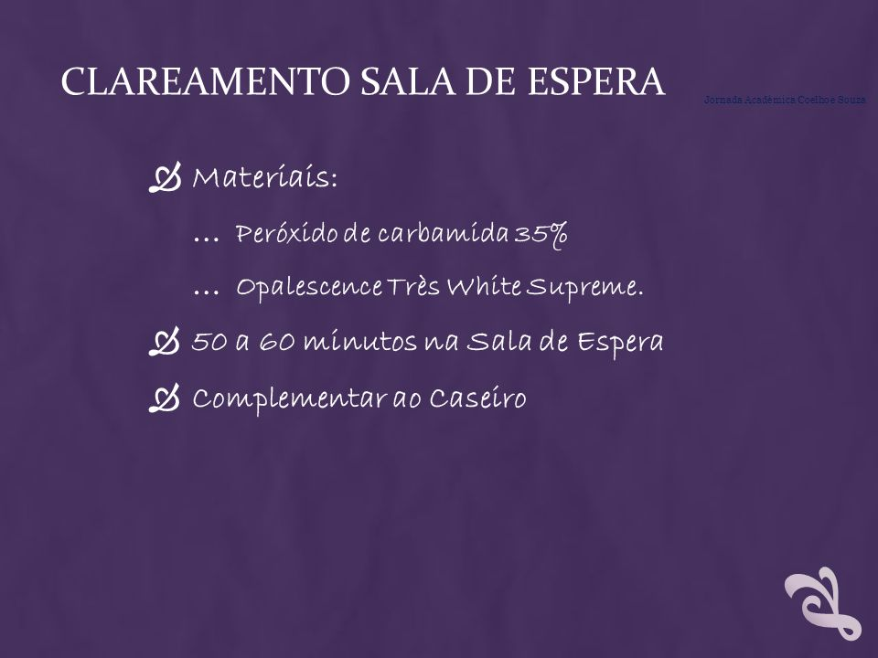 Clareamento SALA DE ESPERA