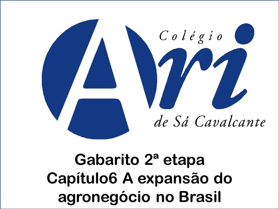 Capítulo6 A expansão do agronegócio no Brasil
