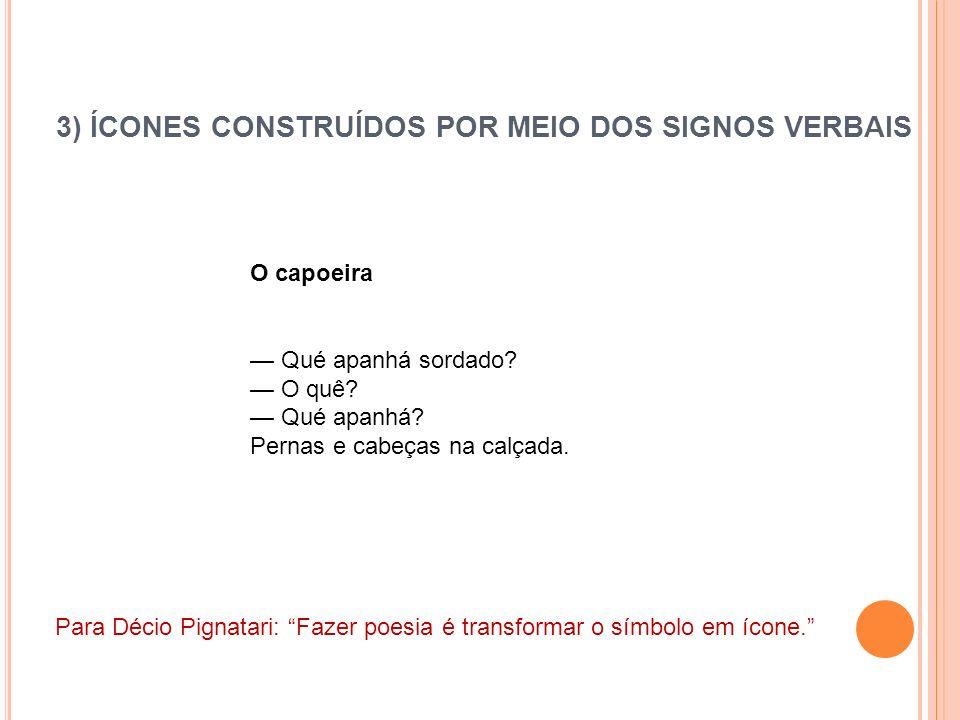 3) ÍCONES CONSTRUÍDOS POR MEIO DOS SIGNOS VERBAIS