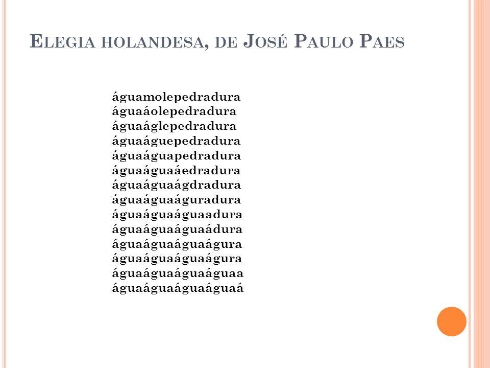 Elegia holandesa, de José Paulo Paes